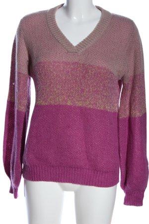 Nümph V-Ausschnitt-Pullover meliert Casual-Look