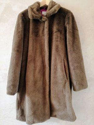 Numph Fake Fur Coat 38 NEW