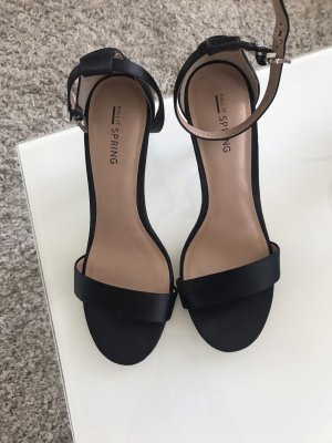 Call it Spring Strapped High-Heeled Sandals black
