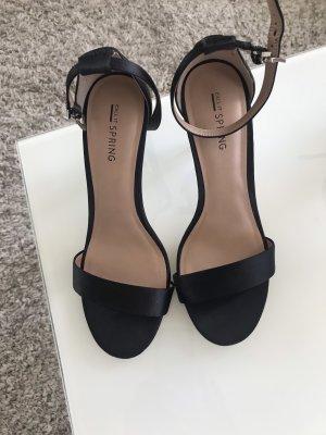 Nur 1x getragen: Satin High Heel Sandaletten