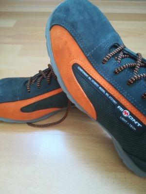 Nur 2-3x getragen: Trekking/Sicherheitschuhe mit Stahlkappen, Marke AIMONT, teilw. Wildledereinsaetzen, Gr. 43