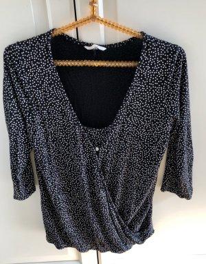 NUR bis 31.3.! H&M Mama Still Oberteil Shirt schwarz weiß gepunktet M