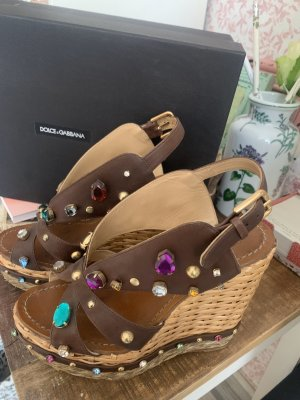 Dolce & Gabbana Clog Sandals brown