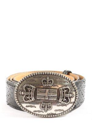 Nurage Leather Belt black animal pattern casual look