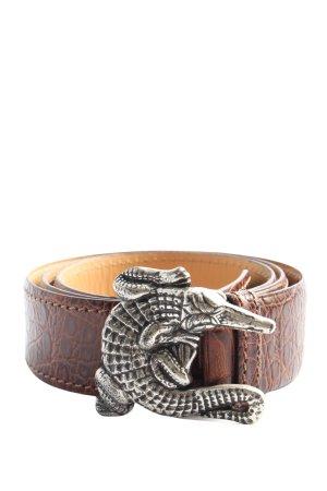 Nurage Leather Belt brown animal pattern casual look