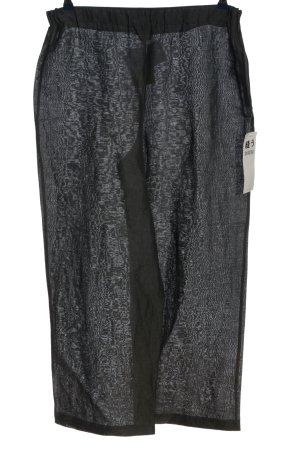 NUU Pantalon en lin noir élégant