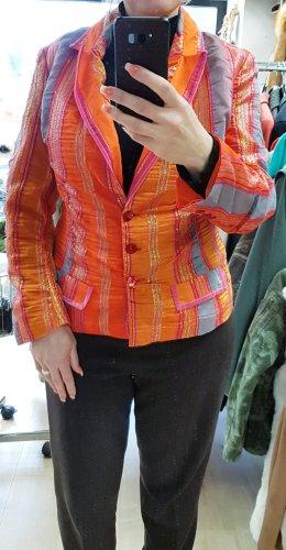 NVSCO Blazer stile Boyfriend grigio-arancione chiaro