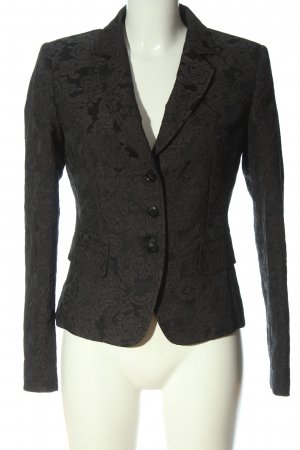 NVSCO Korte blazer zwart-lichtgrijs abstract patroon zakelijke stijl