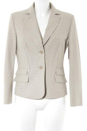 NVSCO Long-Blazer beige-hellbeige abstraktes Muster Business-Look