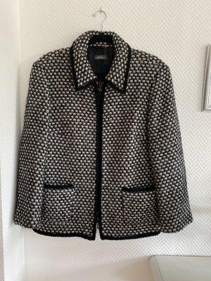 Dibari Blazer en tweed noir-blanc laine alpaga