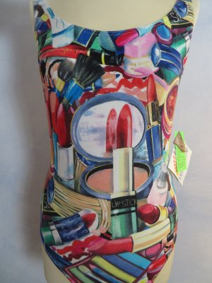 NWT Funky Crazy Lipstick Badeanzug - Sunflair Bademode made in germany - S M - Baumwolle