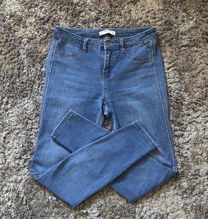 Nwuwertig 36 Pull & Bear Push Up Blau Skinny Jeans Röhrenjeans