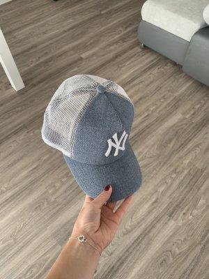 New Era Gorra de béisbol blanco-azul aciano