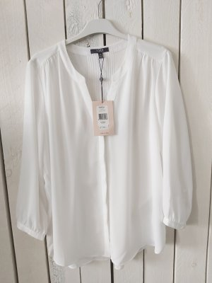 NYDJ Stand-Up Collar Blouse white