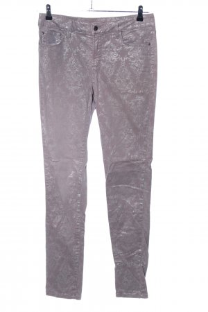 NYDJ Skinny Jeans hellgrau-pink abstraktes Muster Casual-Look
