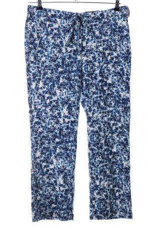 NYDJ Stoffhose blau-weiß abstraktes Muster Casual-Look