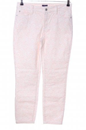 NYDJ Stretchhose pink-weiß Blumenmuster Casual-Look