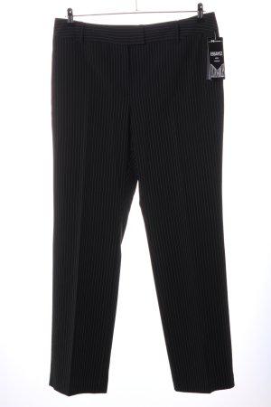 Pantalon de costume noir motif rayé style d'affaires