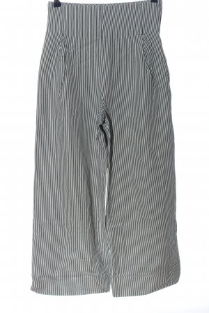 nygardsanna High Waist Trousers black-white striped pattern casual look