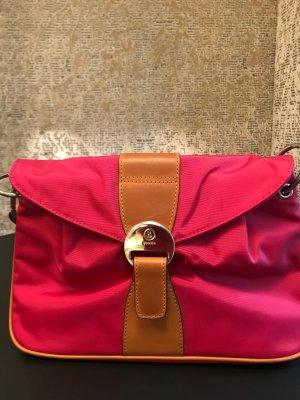 Nylon Handtasche pink mit herausnehmbarem Innenetui
