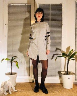 Nümph Vestido tipo blusón gris claro-negro