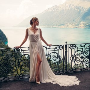 DIE MAßSCHNEIDEREI Wedding Dress white