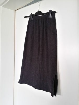 Knitted Skirt dark grey mixture fibre