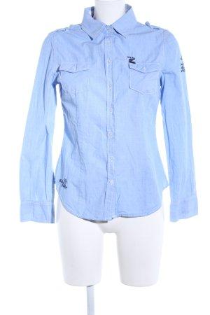NZA New Zealand Auckland Hemd-Bluse blau Casual-Look