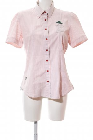 NZA New Zealand Auckland Short Sleeve Shirt pink-white embroidered lettering