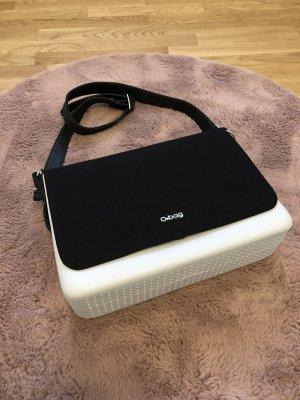 O bag folder grau Anthrazit schwarz Tasche Shopper Handtasche