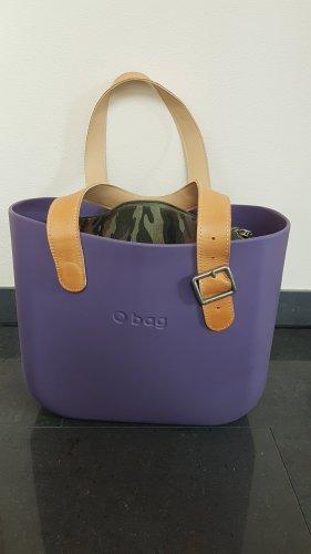 O bag Borsa con manico viola-grigio