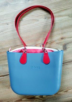 O bag Shopper rouge-bleu acier