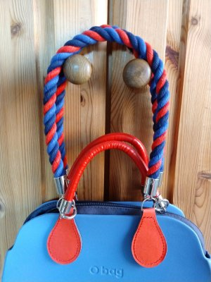 O bag Shopper rouge-bleu
