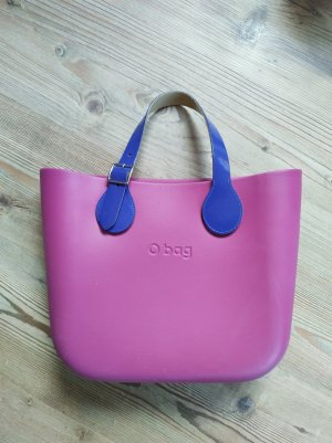 O bag Shopper framboosrood-blauw-paars