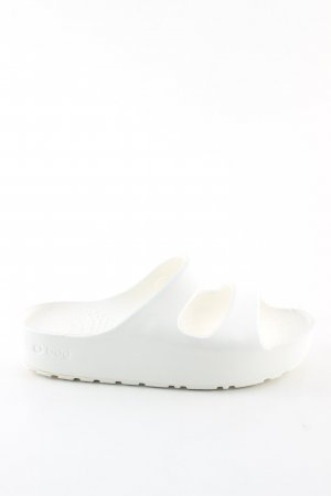 O bag Sandales à talons hauts et plateforme blanc style décontracté