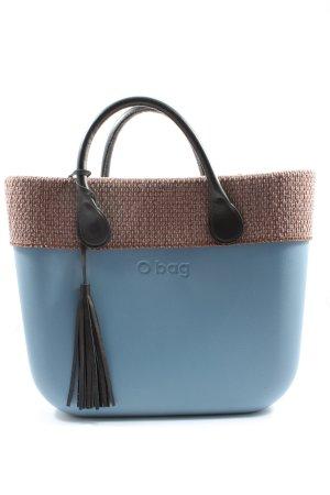 O bag Shopper blau-braun Casual-Look