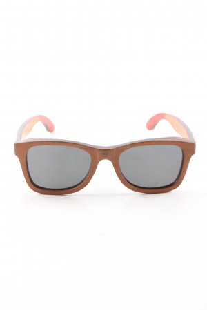 eckige Sonnenbrille bronzefarben Casual-Look