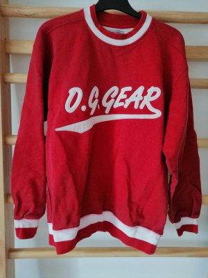 Sweter oversize ceglasty