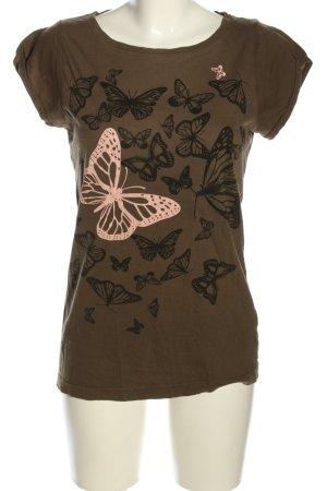 O.HA T-Shirt Motivdruck Casual-Look