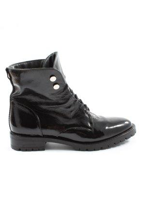 O'Moda Bottines à lacets noir style décontracté