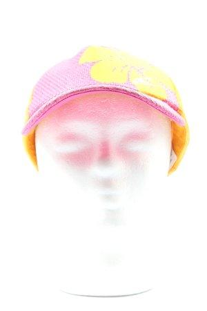 O'neill Baker's Boy Cap pink-primrose themed print casual look