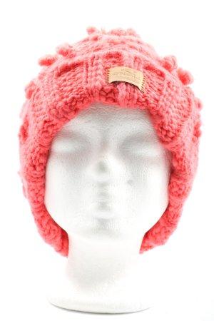 O'neill Cappello all'uncinetto rosa punto treccia stile casual