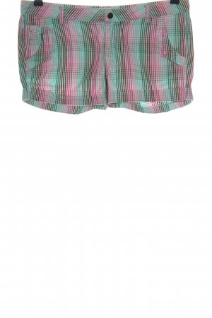 O'neill Hot Pants pink-grün Karomuster Casual-Look