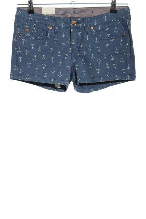 O'neill Pantaloncino di jeans blu-bianco sporco stampa integrale stile casual