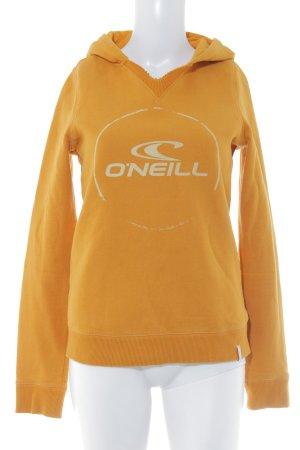 O'neill Kapuzenpullover orange Schriftzug gedruckt sportlicher Stil