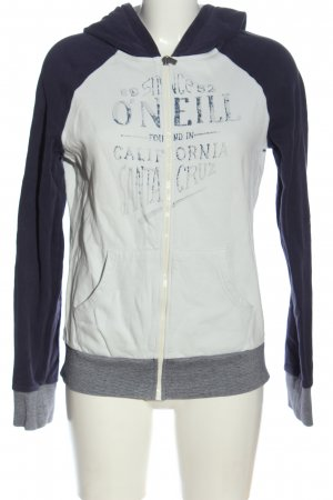 O'neill Kapuzensweatshirt weiß-blau Schriftzug gedruckt Casual-Look