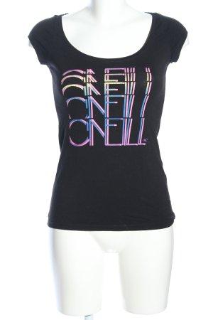 O'neill Print-Shirt schwarz Schriftzug gedruckt Casual-Look