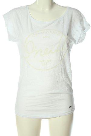 O'neill Camicia fantasia bianco-crema caratteri stampati stile casual