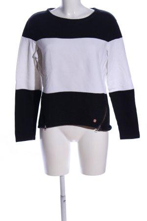 O'neill Rundhalspullover schwarz-weiß Streifenmuster Casual-Look