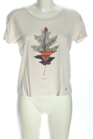O'neill T-Shirt hellgrau-rot Motivdruck Casual-Look